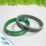 Bracelet en caoutchouc personnalisé de bracelet et de silicones pour l'usager