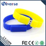 Disco do polegar U da movimentação da pena da vara da memória Flash do USB 2.0 do bracelete 8GB do silicone da forma