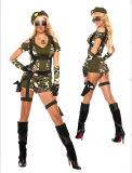 Het verleidende Sexy Kostuum van het Leger van Cosplay van Vrouwen