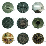 Plating Garments Fashion Abstract Metal Buttons