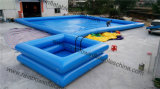 Piscina blu del PVC m2 Certification Inflatable di Color Best 0.6mm