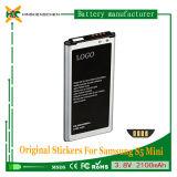 Samsung S5小型G870A G870W G800 S800fのための2100mAh充電電池