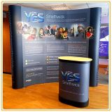 10ft Portable Curved Magnetic Exhibition Stand