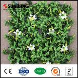 Стена лоз орнаментального завода домашнего украшения Анти--UV зеленая с цветками