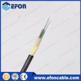 Анти--Задавите сразу кабель оптического волокна куртки PE трубопровода пряжи Aramid захоронения (GYFTY53-FS)