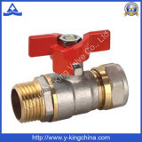 A compressão do Mf termina a válvula de esfera de bronze com ISO228 (YD-1042)