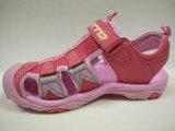 Ботинки пинка девушок сандалий лета детей вскользь