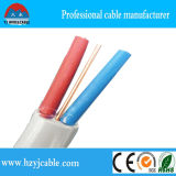 Câble de jumeau et de terre, câble jumeau plat de faisceau, câble plat jumeau, fil de 2core +E et câble électriques
