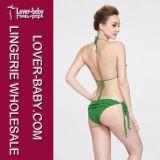 Sexy ruches Twee de Stukken haken Bikini Swimwear (L32571)