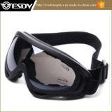Óculos de proteção táticos da proteção dos vidros cinzentos pretos da motocicleta do X.400 de Airsoft