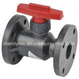 Шариковый клапан фланца PVDF, пластичный шариковый клапан, шариковый клапан PVC