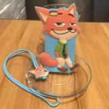Geval van de Telefoon van het silicone het Mobiele met Patroon van het Beeldverhaal van Zootopia Judy 3D