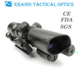 1.5-5X32 compact Rifle Scope Red Green Mil-DOT Reticle avec le laser Sight d'Attached Green