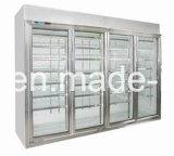 便利な記憶装置のゆとりの飲料および食糧のためのガラスドア冷却装置