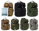 Sac à champ tactique militaire de selle d'emballage de 7 couleurs