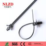 Legame di plastica della chiusura lampo di spinta del supporto della fascetta ferma-cavo di nylon resistente UV del legame