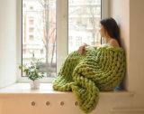 جديد صنع وفقا لطلب الزّبون يد يحبك أكريليكيّ حبك صوف غطاء