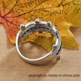 Ring van de Saffier van het Ontwerp van de kroon de Blauwe - 001