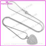 Inner-Stahlverbrennung-hängende Halskette für Aschen-Andenken mit Abdruck (IJD8006)