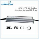 bloc d'alimentation continuel imperméable à l'eau extérieur de la tension DEL de 80W 40V 0~2A