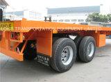 40feet Aanhangwagen van de Container van de lorrie Flatbed Semi