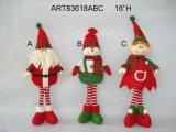 "10 "" h стоя украшение Gift-2asst рождества снеговика Санта"