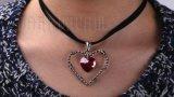 De gevangene van de dubbele van het Hart van de Tegenhanger van de Halsband Vastgestelde Juwelen van de Robijnen 'van Lover