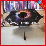 Großverkauf gedruckt, Golf-Regenschirm bekanntmachend
