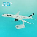 Regalo di modello di plastica del ricordo di linee aeree dell'aeroplano della scala di Tda A350 33cm