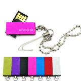Mini USB Pendrive della parte girevole del metallo del USB del bastone impermeabile di memoria