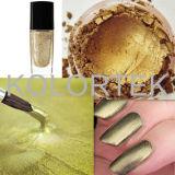 Colorant élevé de vernis à ongles de perle d'or de miroitement, colorant de clou de lustre de perle