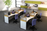 Partition en bois en verre en aluminium moderne de poste de travail/bureau de compartiment (NS-NW220)