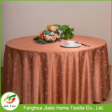 Banquete redondo da flor barata do poliéster que Wedding o Tablecloth vermelho