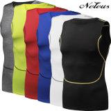 Camiseta de la gimnasia de la aptitud de la tapa del deporte de la camisa de la compresión de los hombres de Dt5005 Neleus