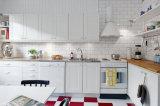 Alto armadietto lucido della cucina del PVC