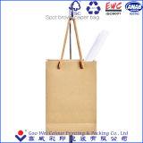 Bolsas de papel que hacen compras de compras de la fábrica de los bolsos de las bolsas de papel directas de Brown Kraft