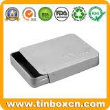 Rechteckiger schiebender Zinn-Behälter, Plättchen-Zinn-Kasten, Metallnahrungsmittelzinn