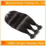 実質の人間の毛髪のペルーのバージンの毛の直毛