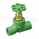 PPR caché/grille/robinet d'arrêt/à tournant sphérique avec du chrome plaqué