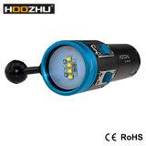 가벼운 최대 2600 루멘 LED 전구의 사진을 찍는 수중이 Hoozhu V13 5 색깔에 의하여 점화한다
