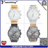 Yxl-341新しいデザイン高品質の水晶は網のスチールバンドのカレンダのメンズウォッチの昇進の贅沢なカスタム人の腕時計を見る