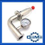 Soupape sanitaire de desserrage d'air de l'acier inoxydable Ss304 avec l'indicateur de pression