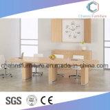 Table de réunion blanche de couleur de meubles de bureau de mélamine de modèle de mode