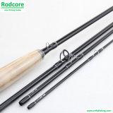 Pesca de madera Rod de mosca del carbón del principiante de la pesca de mosca del asiento del carrete de Eco los 9FT 4section 6weight