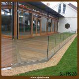 De la cubierta de aluminio inoxidable de 304 pasamano de cristal Steel+ al aire libre (SJ-H030)