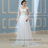 Het ruglooze Huwelijk kleedt Lange Kokers rijgt de Bruids Kleding Wd001 van het Huwelijk