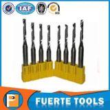 Herramientas de corte modificadas para requisitos particulares del carburo de tungsteno del CNC con 1 flauta