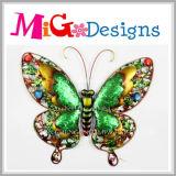 Приятный цветастый декор стены бабочки металла