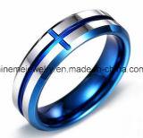 Boucle bleue de tungstène de Jewellry de corps de placage de bijou de Shineme