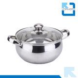 il doppio poco costoso dell'acciaio inossidabile di 20cm tratta l'articolo da cucina del POT della minestra